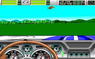 Stunt Driver DOS Out of a course (VGA 256 colors)