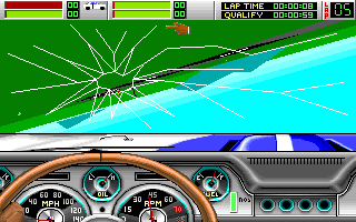 Stunt Driver DOS Crash (VGA 256 colors)