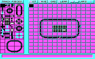 Stunt Driver DOS It Came With a Built in Track Editor (CGA)