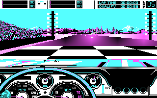 Stunt Driver DOS Adrenaline Waiting for the Light! (CGA)