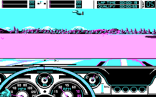 Stunt Driver DOS Out of a course (CGA)