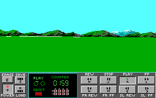 Stunt Driver DOS Replay - Before Crash (EGA/Tandy 16 colors)