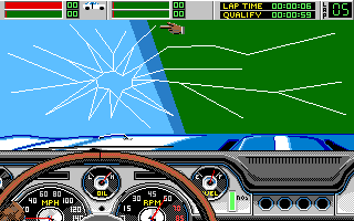 Stunt Driver DOS Crash (VGA 16 colors)
