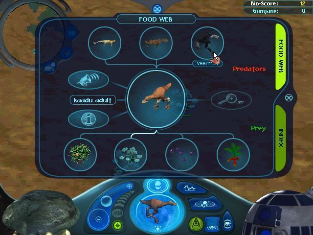 Star Wars: Episode I - The Gungan Frontier Windows Releasing animals that eat bubble spores, in this case a Kaadu adds another level to the food chain which can be built up another level as there are creatures which prey on the Kaadu.