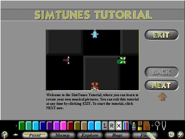 SimTunes Windows The start of the tutorial