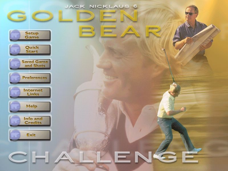 Jack Nicklaus 6: Golden Bear Challenge Windows This is the main menu screen