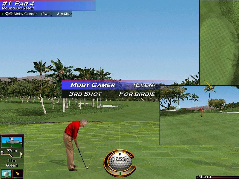 Links LS 2000 Windows The second shot landed on the green. The game can be configured to show the grid automatically when the ball is on / near the hole.