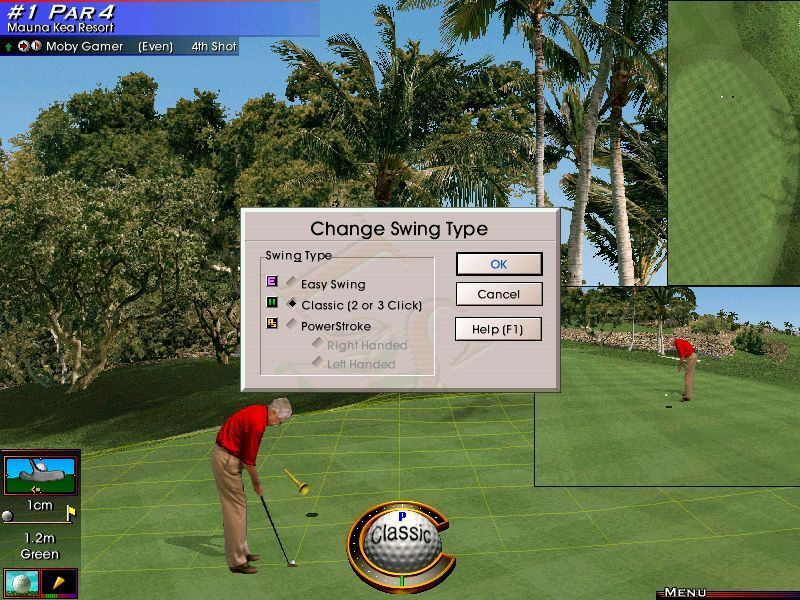 Links LS 2000 Windows There are three kinds of swing control available. They can be set up at the start of the game and can be changed in-game