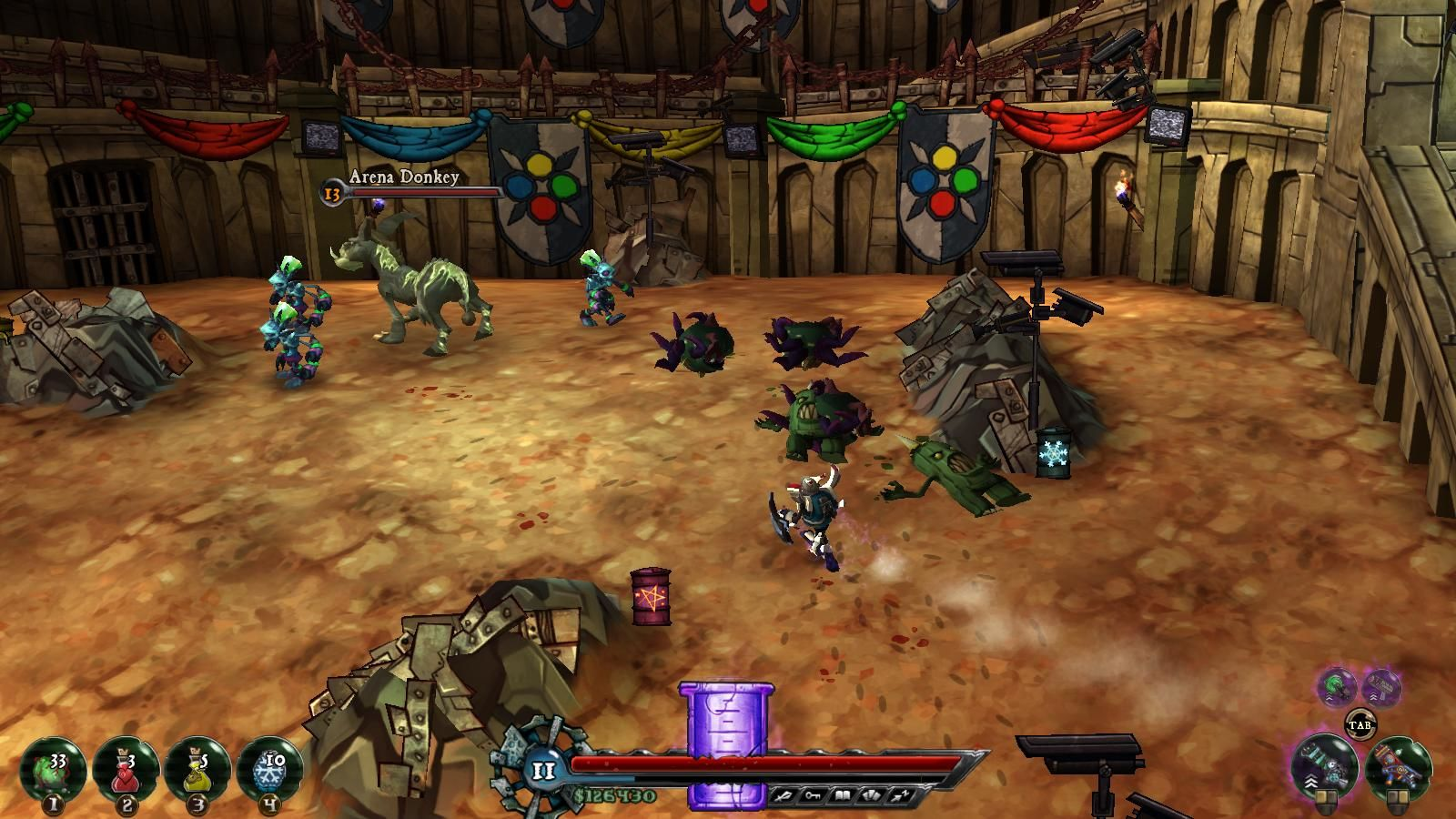 The Baconing Windows There are 20 challenges to pass in Forbidden City's arena.