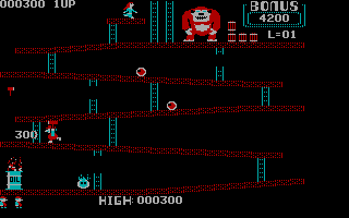 Donkey Kong PC Booter Level 1 - Nice shot (CGA without Full Color)