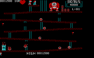 Donkey Kong PC Booter With love from my heart? (CGA without Full Color)