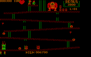 Donkey Kong PC Booter With love from my heart? (CGA with Full Color)
