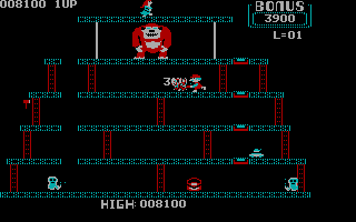 Donkey Kong PC Booter Level 2 - Nice shot (CGA without Full Color)