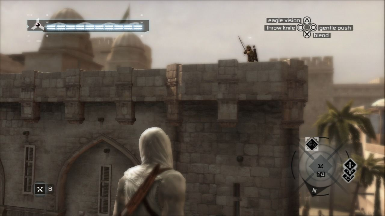 Assassin's Creed PlayStation 3 Throw the knife at the archers that are out of your reach.