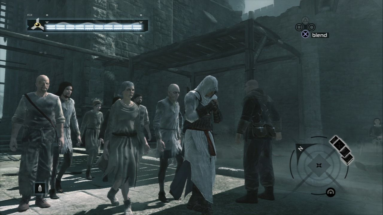 Assassin's Creed PlayStation 3 Assume the praying stance to lower the guards' alert.
