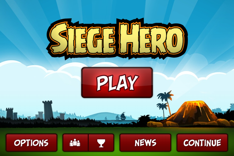 Siege Hero iPhone The title screen