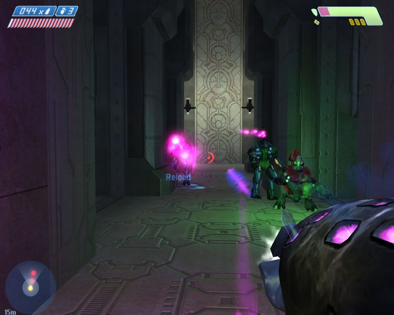 Halo: Combat Evolved Windows The Needler fire tracking projectiles.