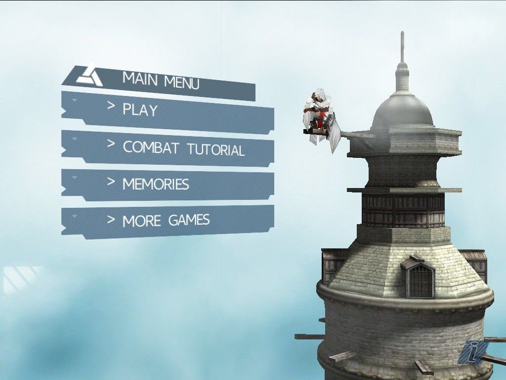 Assassin's Creed: Altaïr's Chronicles iPad Main menu