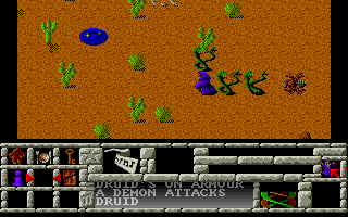 Enlightenment Amiga Attacked by snakes and bugs in a desert.