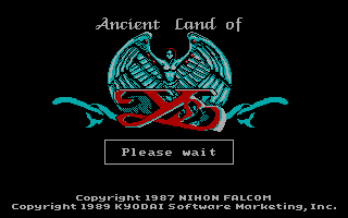 Ys: The Vanished Omens DOS Title Screen (CGA)