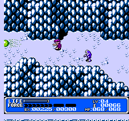 Crystalis NES Chased by enemies on the mountain
