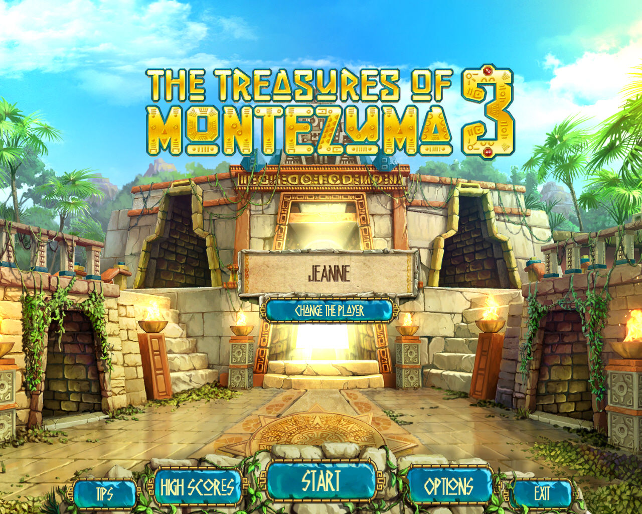 The Treasures of Montezuma 3 Windows Main Menu