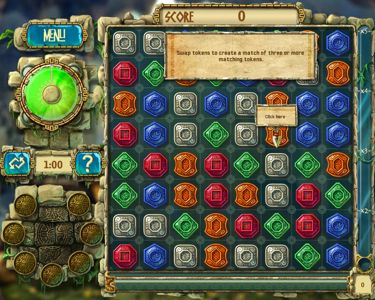 The Treasures of Montezuma 3 Windows The first tile-matching game