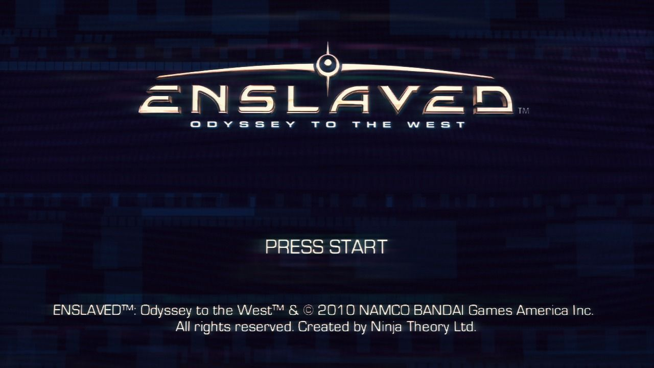 Enslaved: Odyssey to the West PlayStation 3 Main title.
