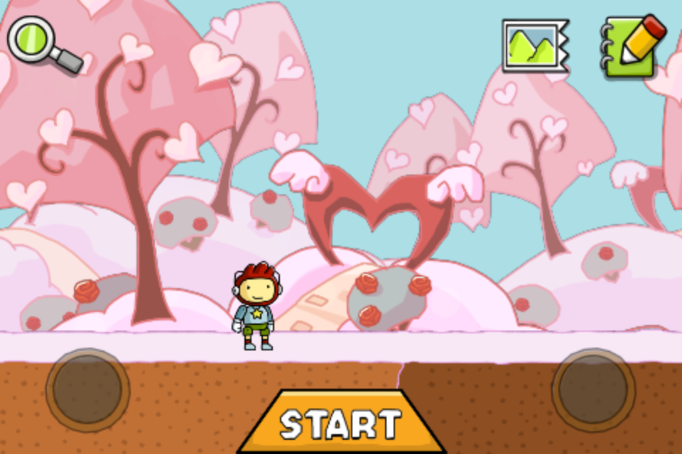 Scribblenauts Remix iPhone For Valentine's Day 2012, a new playground was added to the game. Obviously, it's a love themed one.