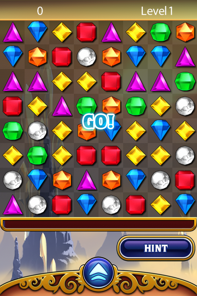 Bejeweled: Classic iPhone Ready for a normal game