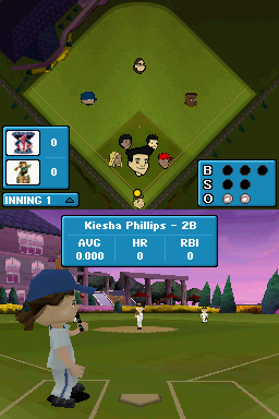 Backyard Baseball '09 Nintendo DS The batter steps up to the plate...