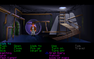 Indiana Jones and the Last Crusade: The Graphic Adventure DOS Sewer system beneath the Venice. (VGA)