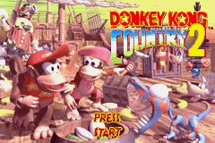Donkey Kong Country 2: Diddy's Kong Quest Game Boy Advance Title screen