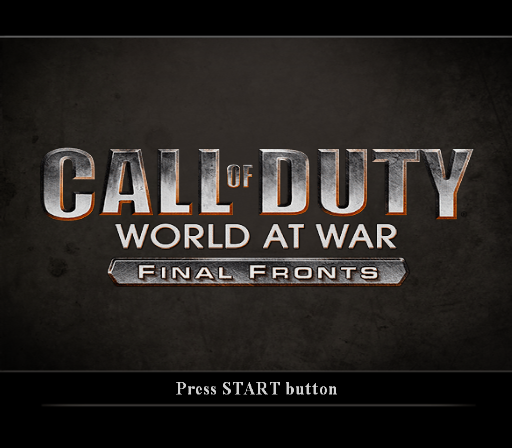 Call of Duty: World at War - Final Fronts PlayStation 2 Title screen.
