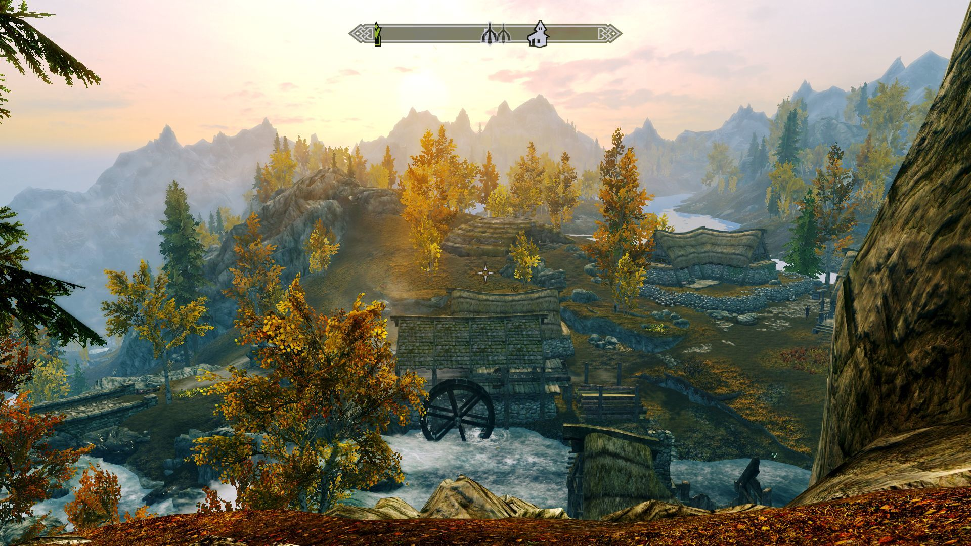 The Elder Scrolls V: Skyrim Windows Sunrise