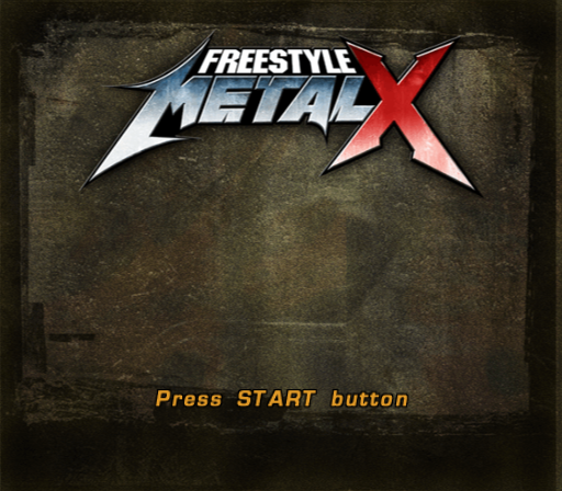 Freestyle MetalX PlayStation 2 Title screen.