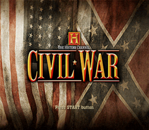 The History Channel: Civil War - A Nation Divided PlayStation 2 Title screen.