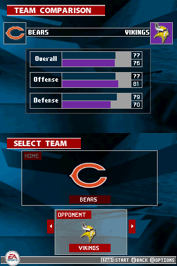 Madden NFL 2005 Nintendo DS Check out how the teams stack up against each other before you take the field.