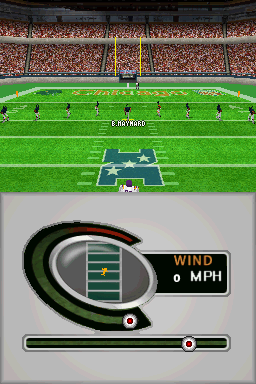 Madden NFL 2005 Nintendo DS The kick meter allows you to adjust the angle and power of a kick.