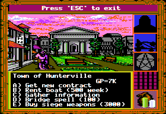 King's Bounty Apple II Visiting a town.