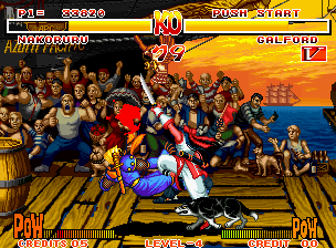 Samurai Shodown Arcade Nakoruru is slashing Galford, what's wrong?