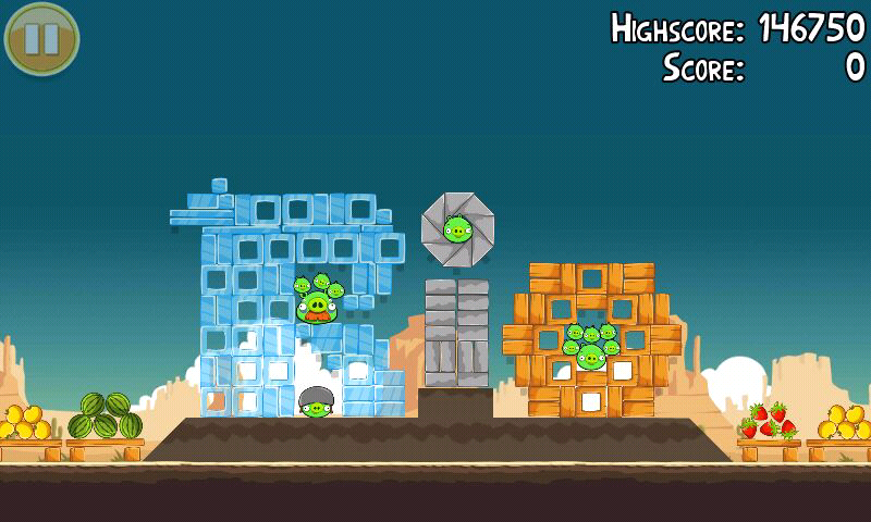 "Angry Birds Android This level is an add for ""Angry Birds Rio"""