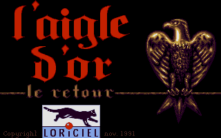 Golden Eagle DOS Title Screen (VGA) (in French)