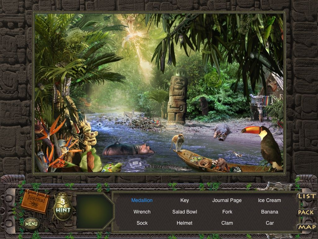 Hidden Expedition: Amazon iPad Jungle River - objects
