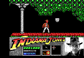 Indiana Jones and the Last Crusade: The Action Game DOS Level 2 - The shield is the second marker to the Holy Grail!
