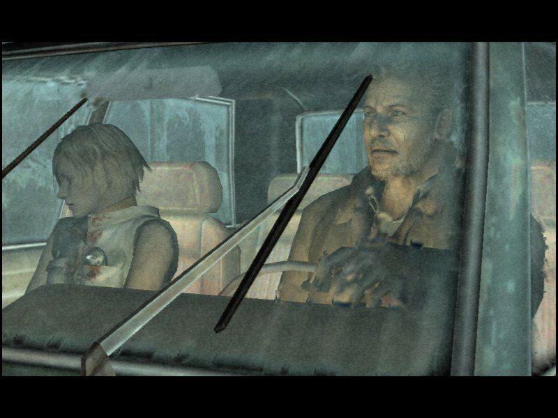 Silent Hill 3 Windows The car ride, one of the greatest cutscenes of the game.