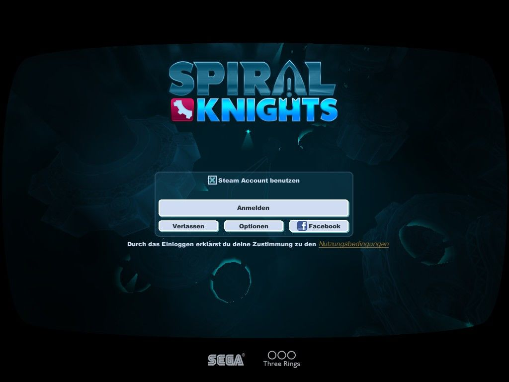 Spiral Knights Windows Main Menu