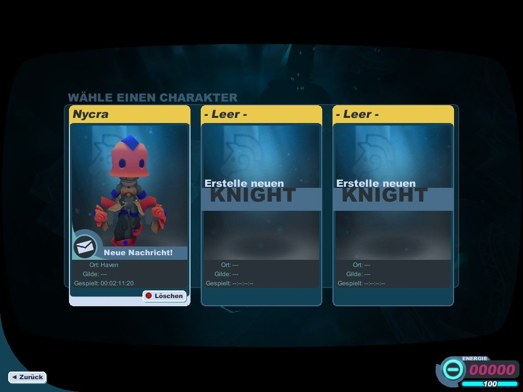 Spiral Knights Windows Character selection
