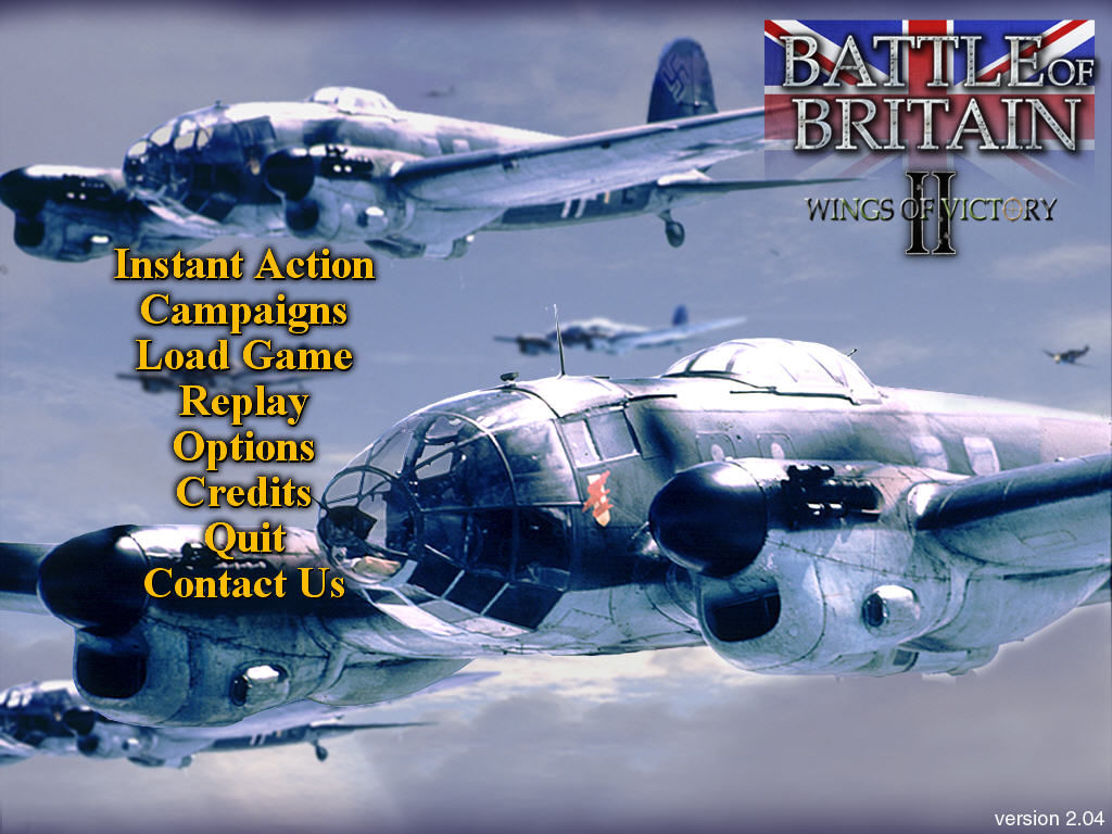 Battle of Britain II: Wings of Victory Windows Title / main menu