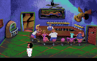 Leisure Suit Larry 1:  In the Land of the Lounge Lizards Amiga In the bar